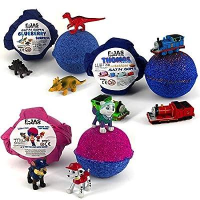 Bath Bomb with Hidden Toy TRIPLE PACK (Paw Patrol, Dinosaur, Thomas): Beauty