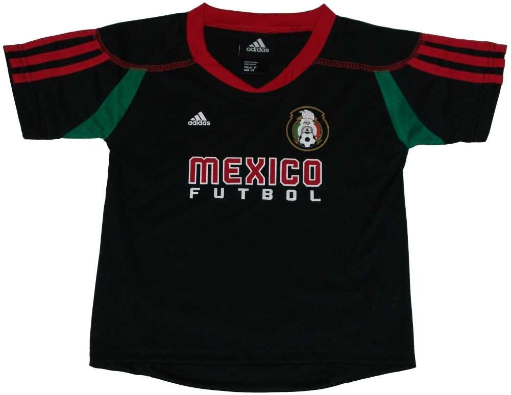 Mexico 2010 World Cup Soccer / Futbol Practice Call-Up Black Kids Jersey