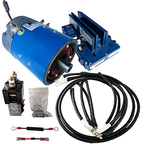 Golf Cart Motors - Club Car Motor & Controller Hi Speed Regen Combo for IQ carts - 18-24 mph +10%Torque - 170-506-0002 Motor w/ 400 Amp Controller - (Blue Option) - includes Solenoid & Wire kits (400 Amp Controller)