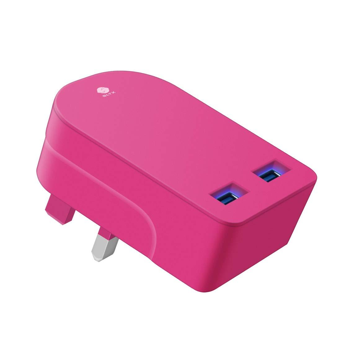 Dual Folding 3 Pin UK Plug 3100mAh Universal USB Charger With Smart IC UK Plug For iPhone//iPad//iPod//Samsung Galaxy Tab//HTC//Windows Phone//Tablet /& USB White