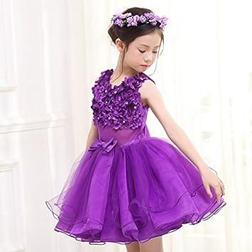 RENQINGLIN Niña Vestidos Vestido De Novia Princesa Puffy Falda Vestidos De Cumpleaños De Niños 100Cm-