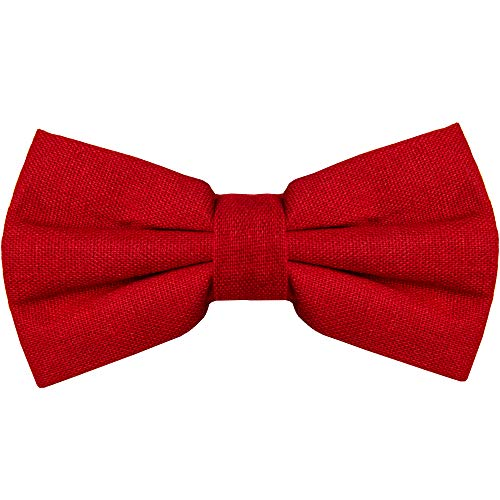 Bow Tie for Men Ties – Mens Pre Tied Formal Tuxedo Bowtie for Adults & Children, Red