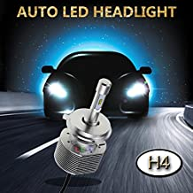 SWEON 2PCS 30W 4000LM H4 PHILIPS ZES Chip Car LED Headlight Conversion Kit High/Low Beam Bulbs 6000K Xenon White Lamp H1 H4 H7 H11 H13 9004 9005 9006 9007