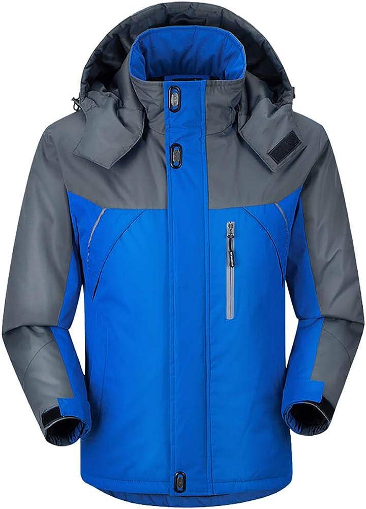 da neve con cappuccio antivento calda Giacca da sci impermeabile da uomo invernale capo di abbigliamento da montagna
