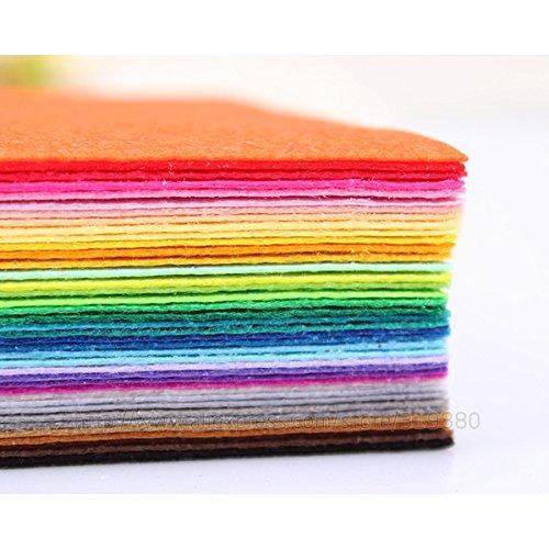 (Craft Sewing Art - Felt Fabric - Craft Felt Fabric - Felt Flower Making - 40color 2030cm felt fabric Polyester Nonwoven Felt Fabric 1mm Thick Home Decoration DIY Cloth For Flower Toy Felts)