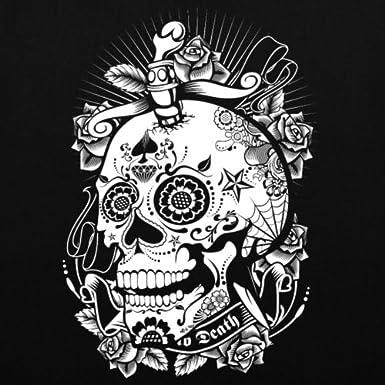 Spreadshirt D/ía De Los Muertos T/ête De Mort Dague Tote Bag