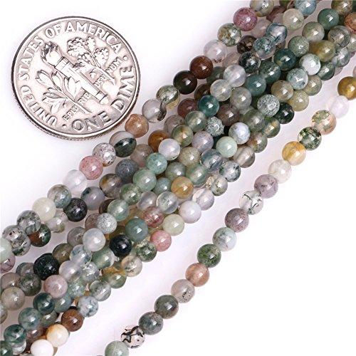 Stone Precious Semi Agate (Joe Foreman Indian Agate Seed Beads for Jewelry Making Natural Gemstone Semi Precious 3mm Round 15