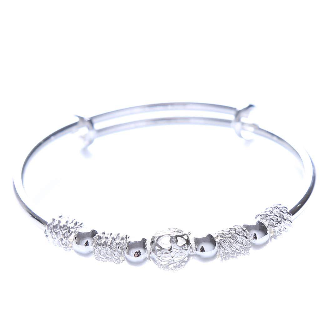 KISSFRIDAY Verkupfertes silbriges glückliches Korne justierbares Armbandarmband für Geschenk Shumeng
