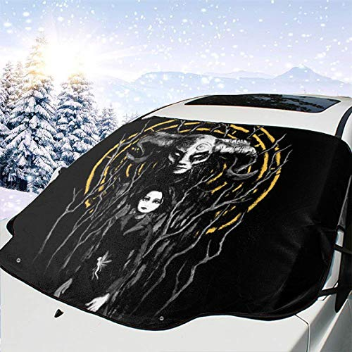 ENXIANGXIJ Princess Reborn Pans Labyrinth Car Windshield Snow Cover, Ice Removal Sun Shade, Fit for Universal Cars (58'' X47'')