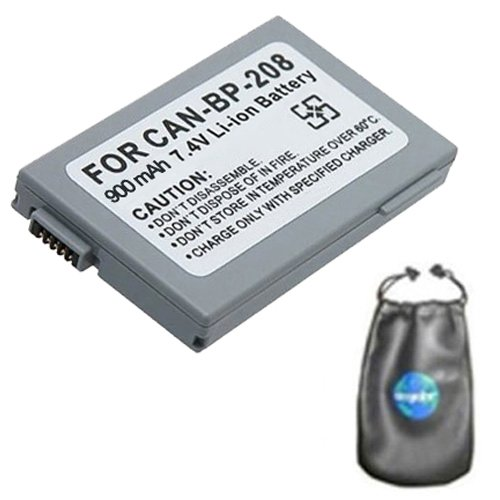 Bp 315 Replacement Battery (amsahr Digital Replacement Camera and Camcorder Battery for Canon BP-208, BP-308, BP-214, BP-315, DC10, DC20, DC22 Optura HV10 - Includes Leatherette Camera / Lens Accessories Pouch)