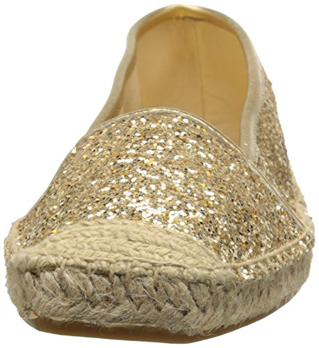 Nine West Womens Bigapple Synthetic Ballet Flat Gold/Gold