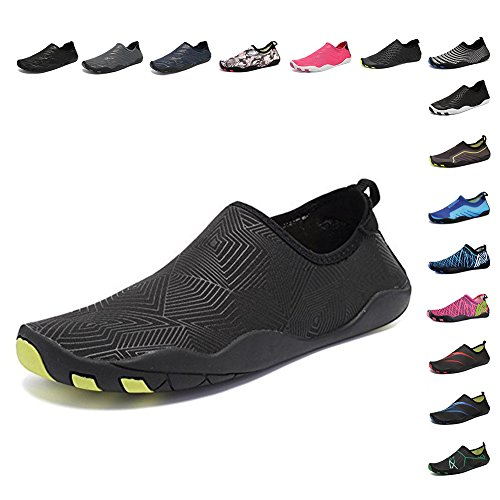 CIOR Water Shoes Men Women Aqua Shoes Barefoot Quick-Dry Swim Shoes with 14 Drainage Holes for Boating Walking Driving Lake Beach...