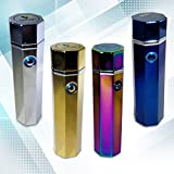 Electric Dual Arc Plasma Lighter, USB Rechargeable Flameless and Windproof for Cigars Cigarettes Grilling and Fireplaces (Gold)