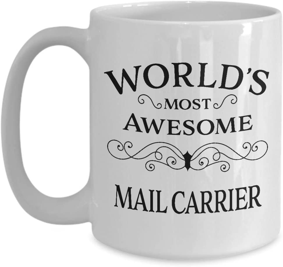 Best Present for Mail Carrier - Thank You Retirement Appreciation Day Christmas Birthday Leaving - Mailman Mail Man Postal Postman Letter Postie Parcel Courier Post Office Service - 15oz