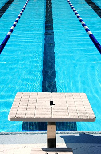Wallmonkeys WM186611 Starting Block at End of Swim Lane Peel and Stick Wall Decals (36 in H x 24 in W)