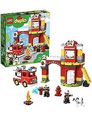 LEGO 10903 Duplo brandweerwakker met brandweerauto en 2 brandweerfiguren, licht en geluiden, speelgoed voor kinderen van 2 tot 5 jaar
