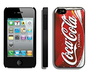 Newest iPhone 4 4S Screen Case ,Unique And Fashionable Designed Case With Coca-Cola Classic Can Black iPhone 4 4S Phone Case