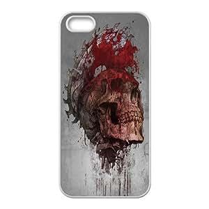 [QiongMai Phone Case] For Apple Iphone 5 5S Cases -Skull Art-IKAI0447922