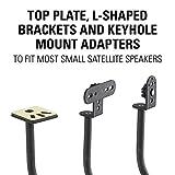 """Sanus Adjustable Height Speaker Stand - Extends 28"""" to 38"""" - Holds Satellite & Small Bookshelf Speakers (i.e. Bose, Harmon Kardon, Polk, JBL, KEF, Klipsch, Sony and Others) - Set of 2 - Model: HTBS"""