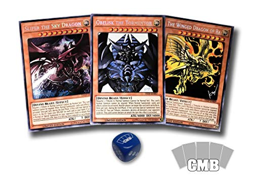 Yugioh All 3 Egyptian God Cards with a Bonus CMB Dice (Cards Yugioh God)