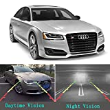 Car Rear View Camera, GerTong License Plate Backup Camera Color HD Waterproof Night Vision 170° Wide Angle Viewing Reverse Camera