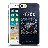 Official HBO Game of Thrones Stark Metallic Sigils Soft Gel Case for iPhone 7 / iPhone 8