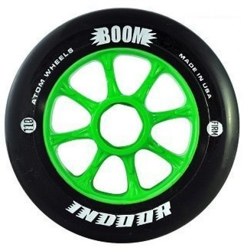 Atom Boom Black Indoor Firm 91a Speed Skate Wheels