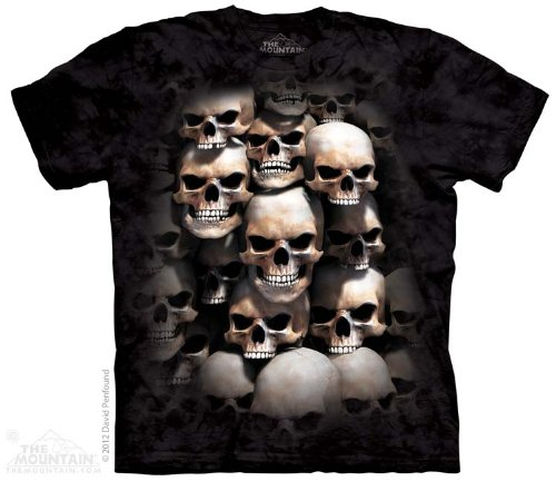 - The Mountain Men's Skull Crypt T-Shirt, Black, Medium