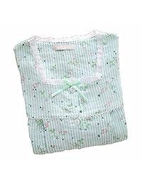 [Green Stripe] Cotton Maternity Pajamas Set Nightwear Breastfeeding Pajamas