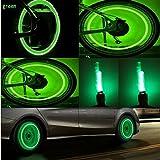 Bike Rite Brand Bike Wheel Lights- Car Motorcycle Tire Valve Lights- Cash Money Green Neon LED 100% Waterproof Bicycle Wheel Lights- Kids Bike Safety Accessories ( 2 pack) Batteries Included
