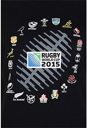 Brandco Coupe du Monde RWC 2015 Tshirt de Rugby Sublim/é Ballon 20 Nations Noir