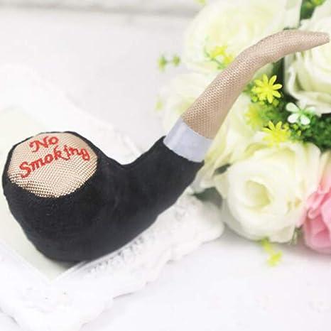 elegantstunning Pet Toy Color Plush Pipe Sounder Black