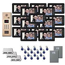 Apartment Video Intercom 16 7 door camera monitor key for kit