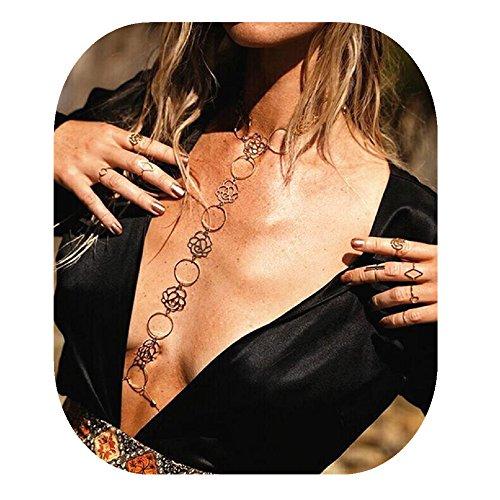 - JeVenisLuxuryHarnessBikiniRhinestoneBralette BodyChainsBelly Chain Jewelry (New Rose Only)