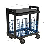 Atlantic Cart System 3 Tier Cart - Wide Mobile