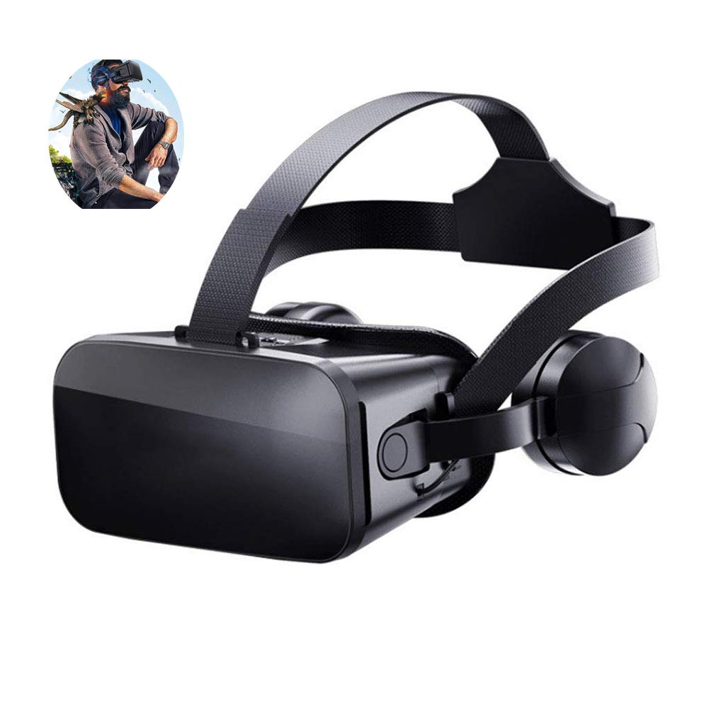 YTBLF 3DVR Virtual Glasses, Stereo 3D Sound Effects, 3D high-Definition Coated Lenses, Multiple 3DVR APP Compatible at The Same time, Support Android / IOS4.5-6.60 inch Mobile Phone,A
