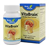 Cheap VitaBrain – Natural Brain Health Formula (US Patent). Brain Vitamins for Focus, Memory, Mental Performance. Created by Best in Nature.