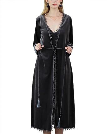 Set de 2 Piezas V Albornoz para Mujer Batas Kimonos Baño Casa: Amazon.es: Ropa y accesorios