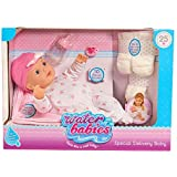 """NEW! 16"""" Waterbabies 25th Anniversary - Special Delivery Baby Doll with Playset Blonde - Feels Like a Real Baby"""