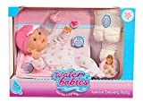 "NEW! 16"" Waterbabies 25th Anniversary - Special Delivery Baby Doll with Playset Blonde - Feels Like a Real Baby"
