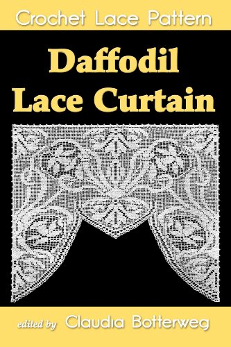 (Daffodil Lace Curtain Filet Crochet Pattern)