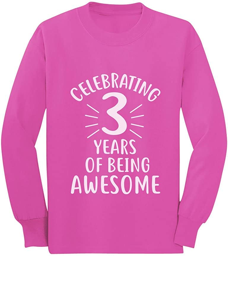 3 Year Old Birthday Toddler//Kids Long Sleeve T-Shirt 3 Years of Being Awesome