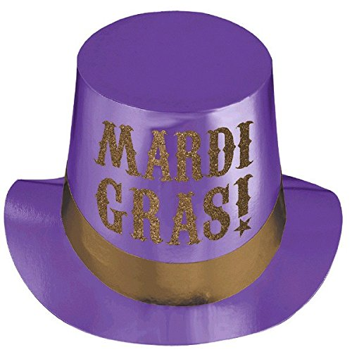 [Mardi Gras Party Fashion Sequined Top Hat Costume Headwear, Cardstock, 5