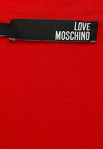 MOSCHINO Love Peace Circle Logo T-Shirt, Red (XL) by MOSCHINO (Image #4)