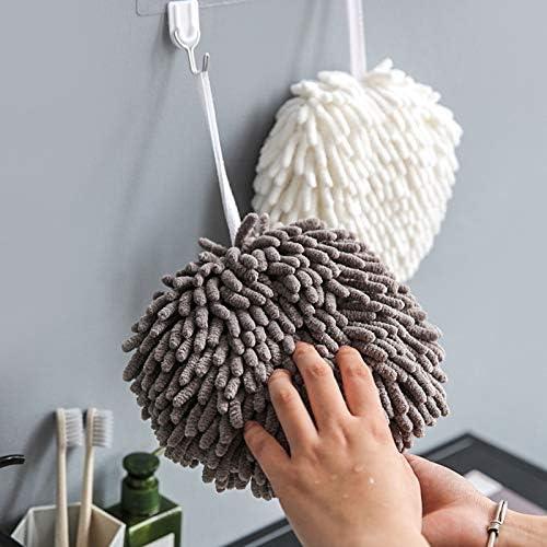 Mifive Cucina Asciugamano Asciugamano Asciugatura Rapida Asciugamano Appeso Palla Spessa Pratica Ciniglia Bagno Domestico Assorbimento Acqua Cucina Bianco