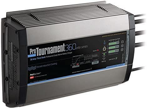 Promariner 52036 Pro Tournament 360 Elite Triple Charger 36 Amp 3 Bank by ProMariner