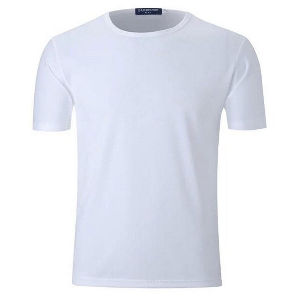 BBYaKi Delgada De Manga Corta Camiseta, White, XXXL