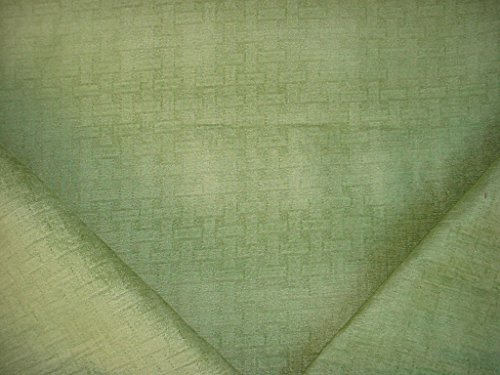 269H1 - Pistachio Green Bamboo Basketweave Cuddly Chenille Designer Upholstery Drapery Fabric - By the Yard