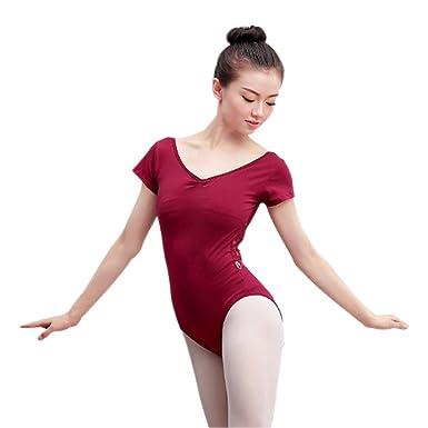 Bozevon Damen Gymnastikanzug Ballett Body Sexy Trikot Ärmellos HH1rwqd
