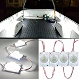 12V 10 LEDs Van Interior Lights White LED Lamp Waterproof with LED Project Lens for LWB Van Boats Caravans Trailers Celling Light